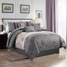 7 Piece Averil Purple/Gray Comforter Set Queen