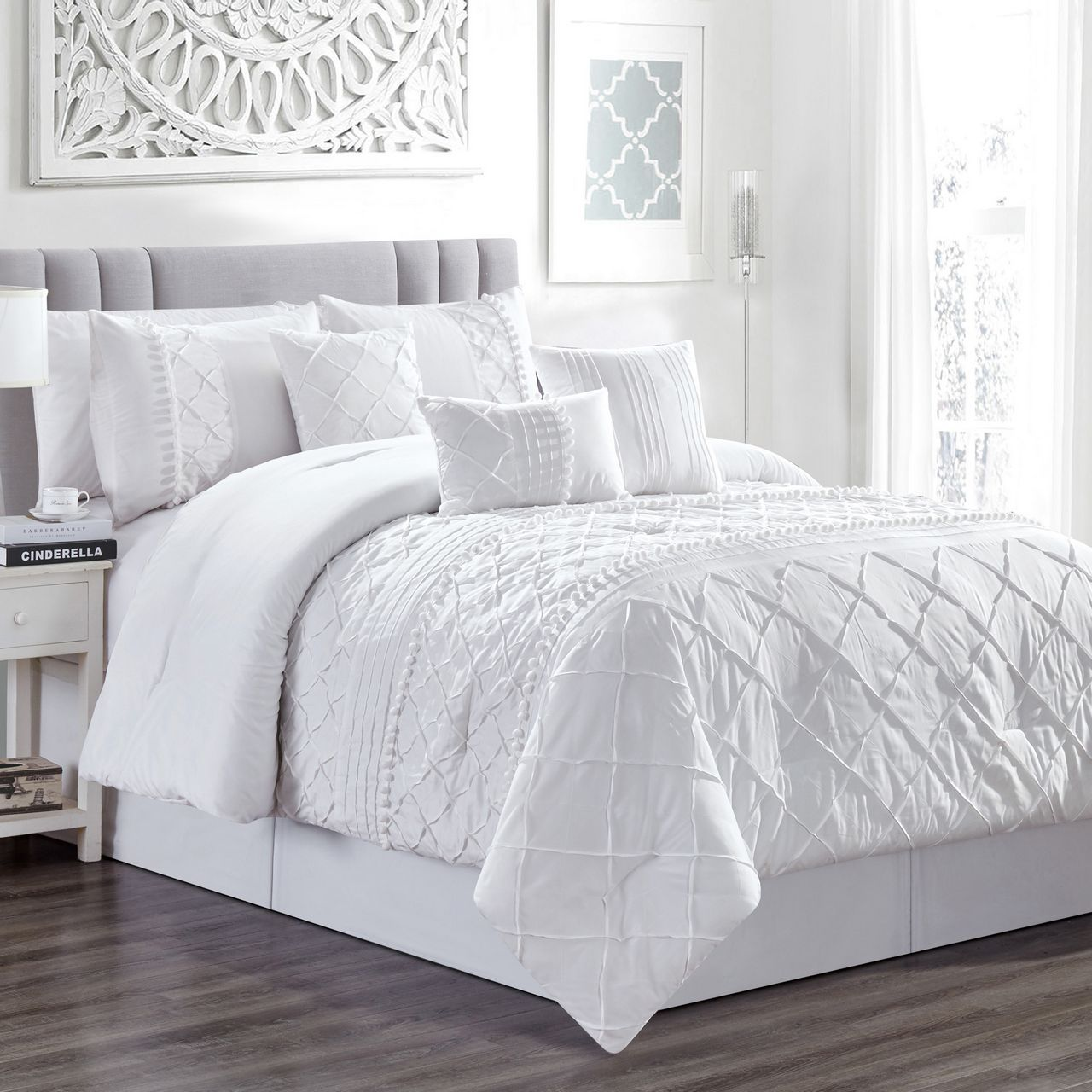 7 Piece Harmony White Comforter Set