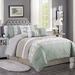 7 Piece Osier Sage/Taupe/Gray Comforter Set Cal King