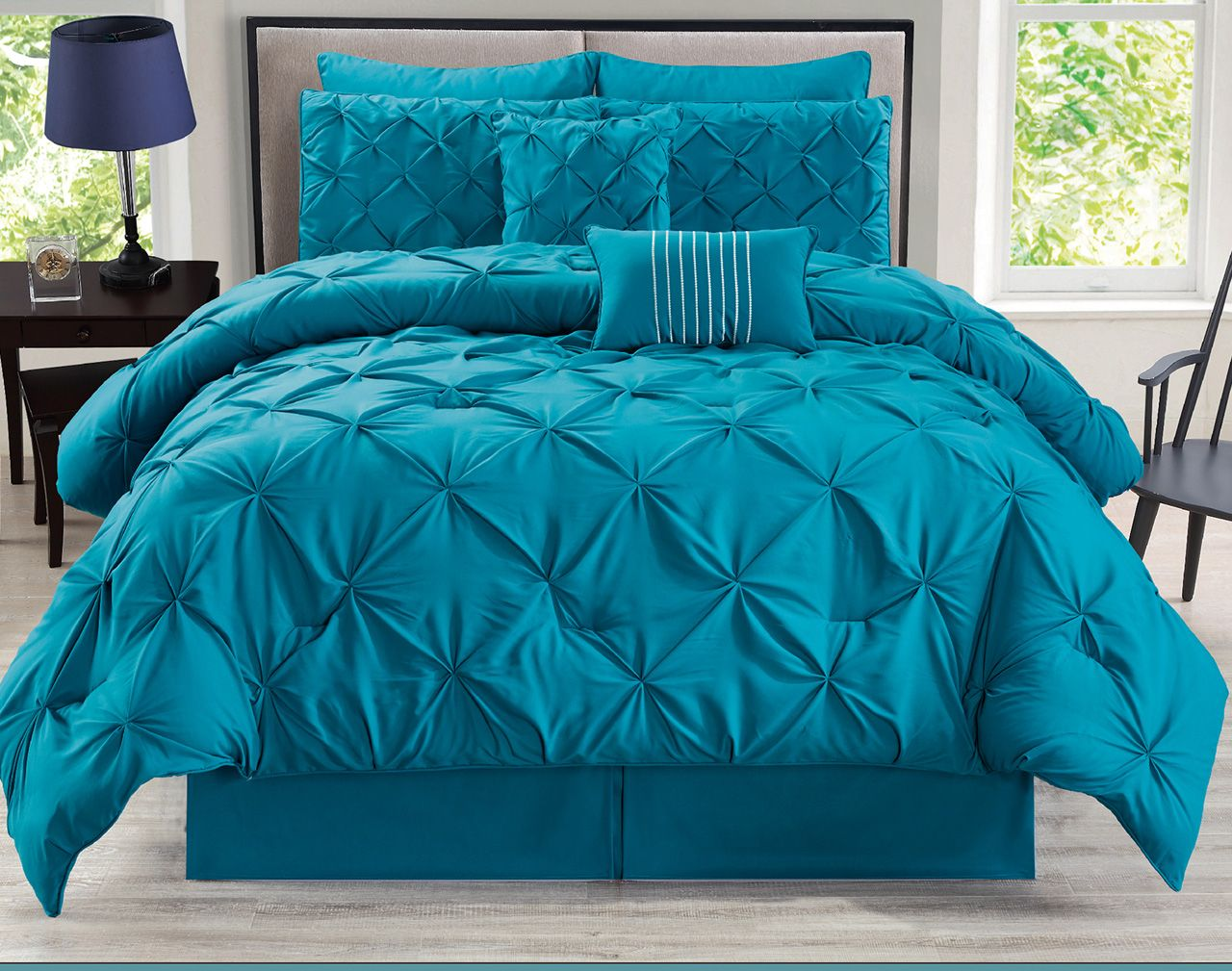 8 Piece Aubree Pinched Pleat Comforter Set