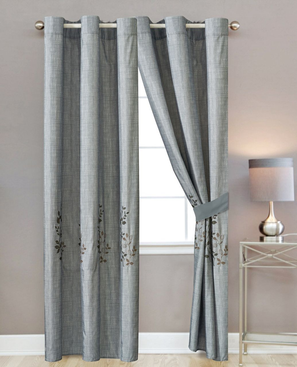 Benhill Gray Curtain Set