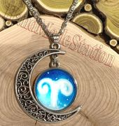 Aries The Ram icon Moon Outer Universe Pendant