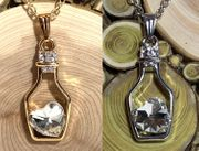 Bottle Love Clear white heart Crystal