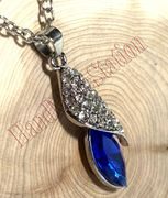 Swarovski Crystal Nature Stone Pendant Necklace