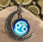 Cancer The Crab icon Moon Outer Universe Pendant