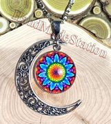 Moon Circle style Pendant Necklaces