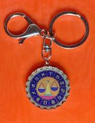 Libra Scales icon keychain