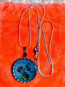 Mickey Minnie mouse Love on Moon necklace