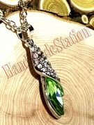 Swarovski Elements Teardrop Lime Green Crystal