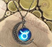 Taurus The Bull icon Moon Outer Universe Pendant