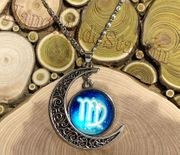 Virgo The Virgin icon Moon Outer Universe Pendant