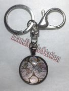 World Map Artist Glass Dome Stainless steel Keychain