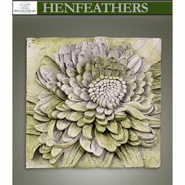 Architectural Chrysanthemum Study Plaque