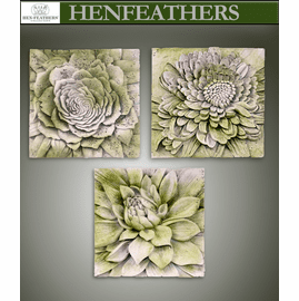 Architectural Floral Study Plaques - Set of 3