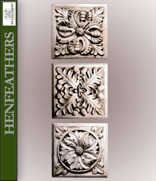 architectural square decorative wall plaques henfeathers