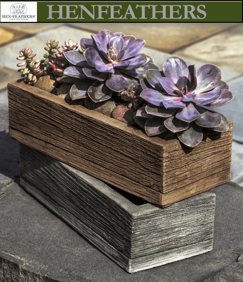 Barn Board Planter 14""