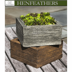 Barn Board Faux Bois Planter Small Square