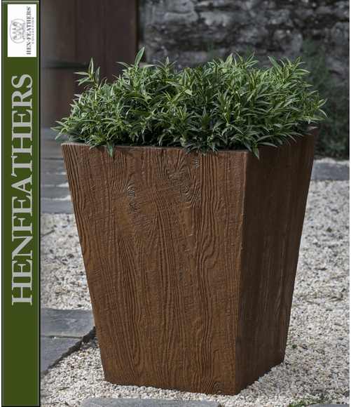 Barn Board Tall Tapered Planter