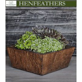 Barn Board Tapered Planter, Small