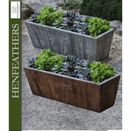 Barn Board Tapered Trough