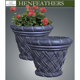 Basket Weave Planter Pair {USA}n