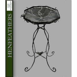 Bird and Branch Birdbath with Stand