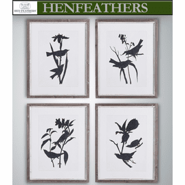 Bird Silhouette Prints, Set Of 4