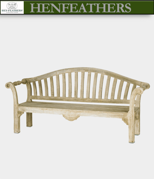 Blenheim Scroll Faux Bois Bench (n)