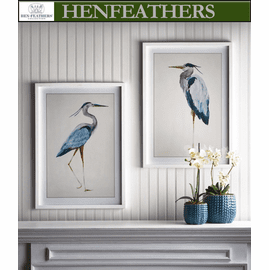 Blue Heron Prints, Set Of 2