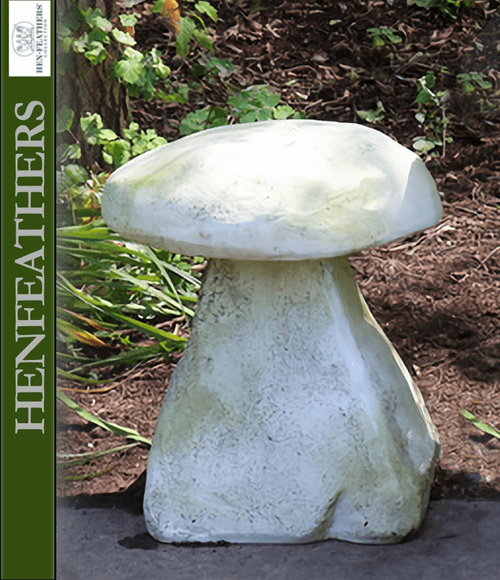 Blushing Meadow Mushroom Staddle Stone 18""