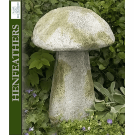 Blushing Meadow Mushroom Staddle Stone 24""
