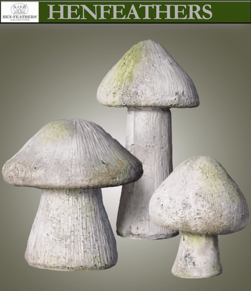 Blushing Wood Mushrooms Set of 3 {USA} n