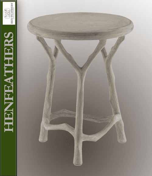 Bois de Bourbon Faux Bois Side Table/Stool