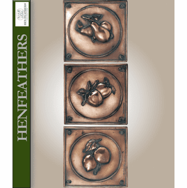 Botanical Fruit Study Plaques Set of 3