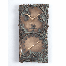 Boutique Birds Nest Clock & Thermometer