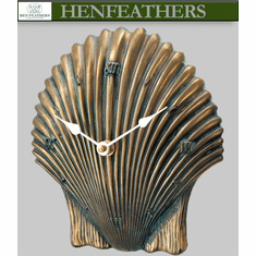 Boutique Scallop Shell Clock