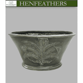 Bronze Fern Oval Planter or Beverage Cooler