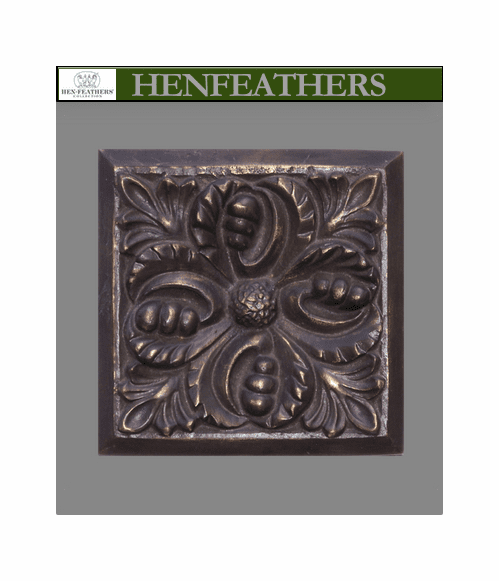 Bronze Wall Tile Brun- Acanthus Leaf 7""