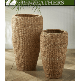 Brooks Braid Tall Round Planters - Set of 2