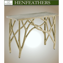 Brookside Branch Faux Bois Side Table (n)