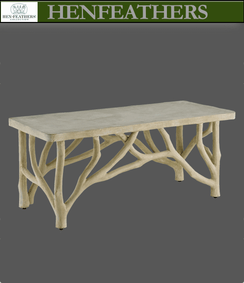 Brookside Branch Faux Bois Table/Bench {n}