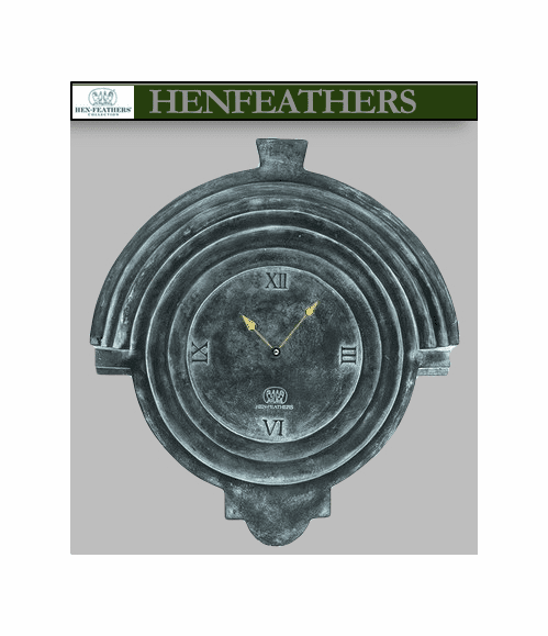 Cartouche Garden Clock is a Henfeathers Original, indoor/outdoor