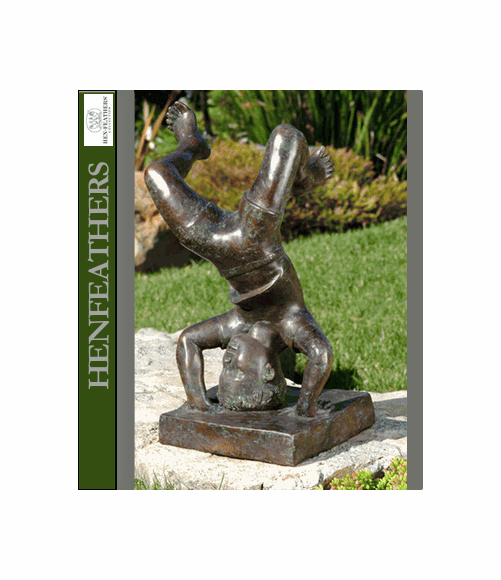 Child Tumbling Bronze Sculpture