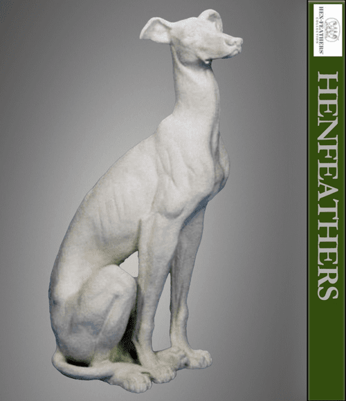 Classic English Whippet Sculpture