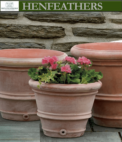 Classic Rolled Rim Planters Set of 3