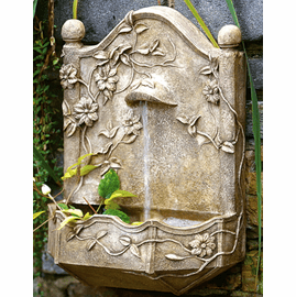 Clematis Vine Garden Wall Fountain {USA}