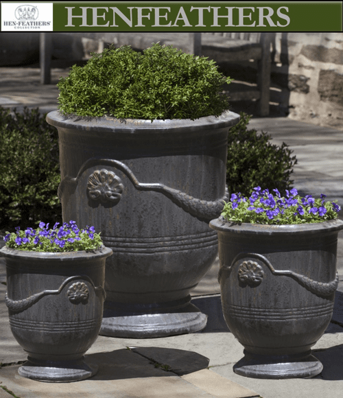 Coquille Anduze Urns - Set of 3