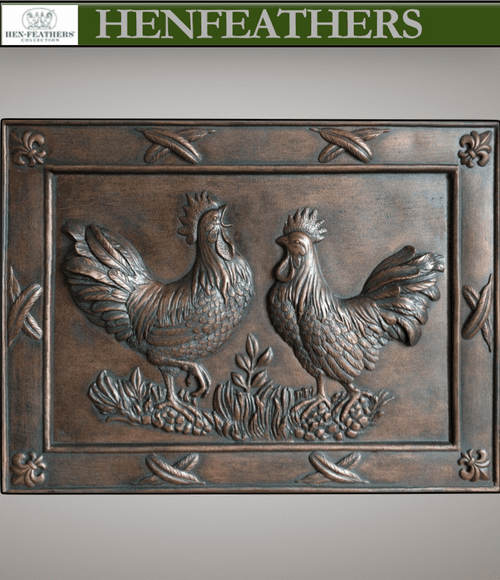 Deux Rooster bas Relief {USA}