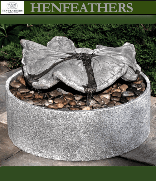 Disappearing Leaf Sculpture Fountain