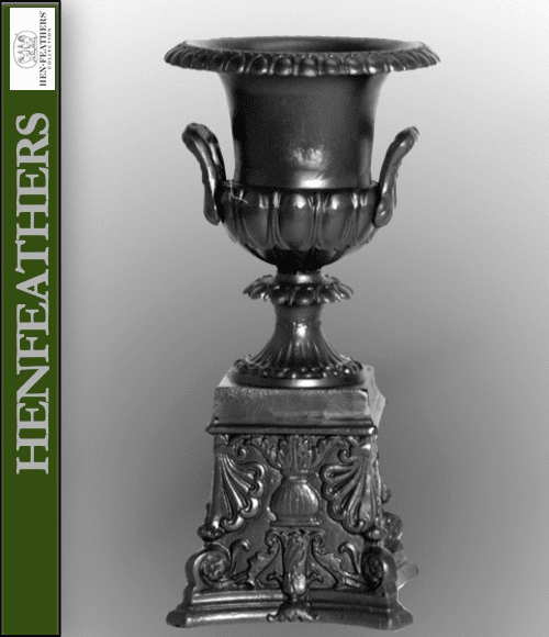 Egg & Dart Handle Urn with Acanthus Leaf Base {USA}n